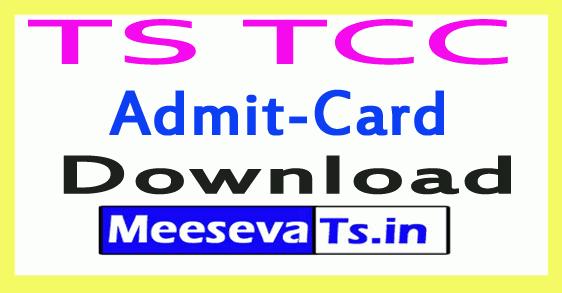 TS TCC Exam Hall Tickets Download