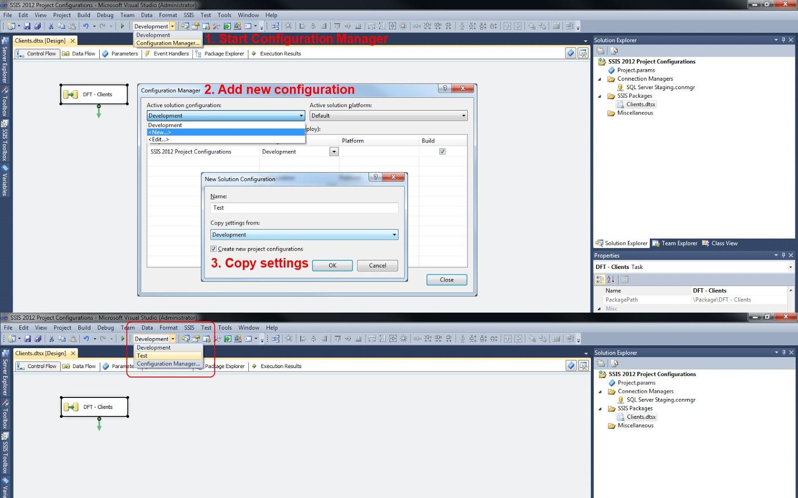 Microsoft SQL Server Integration Services: Multiple Configurations