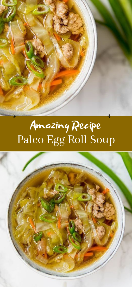 Paleo Egg Roll Soup #dinnerrecipe #food #amazingrecipe