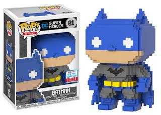Pop! 8-Bit: Blue & Grey Batman.