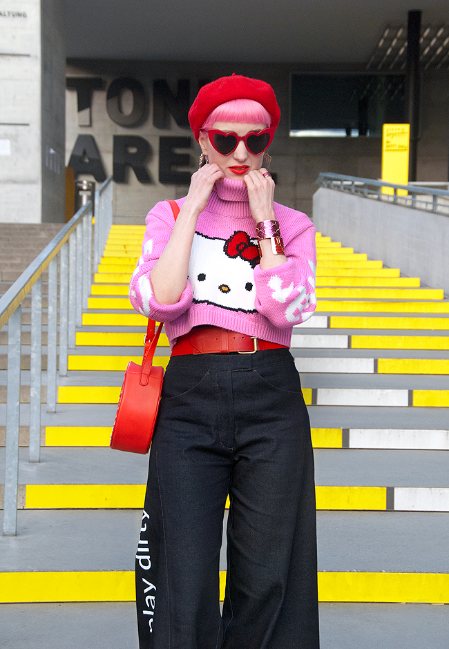Saint Laurent, heartshaped glasses, Hello Kitty