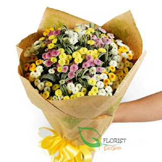 Beautiful bouquet of daisies delivered Saigon