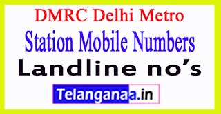 DMRC Delhi Metro Station Mobile Numbers Line 4