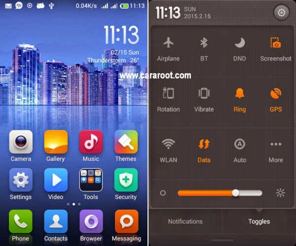 Gambar (4.3) ROM Xiaomi MIUI v5 Andromax C2 (UPDATE) 2