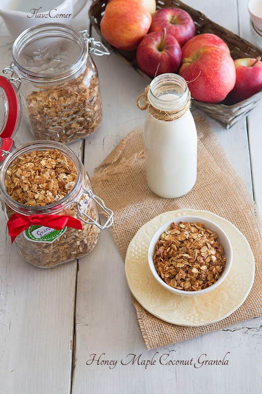 Honey Maple Coconut Granola And 5 Minutes Healthy Breakfast Parfait