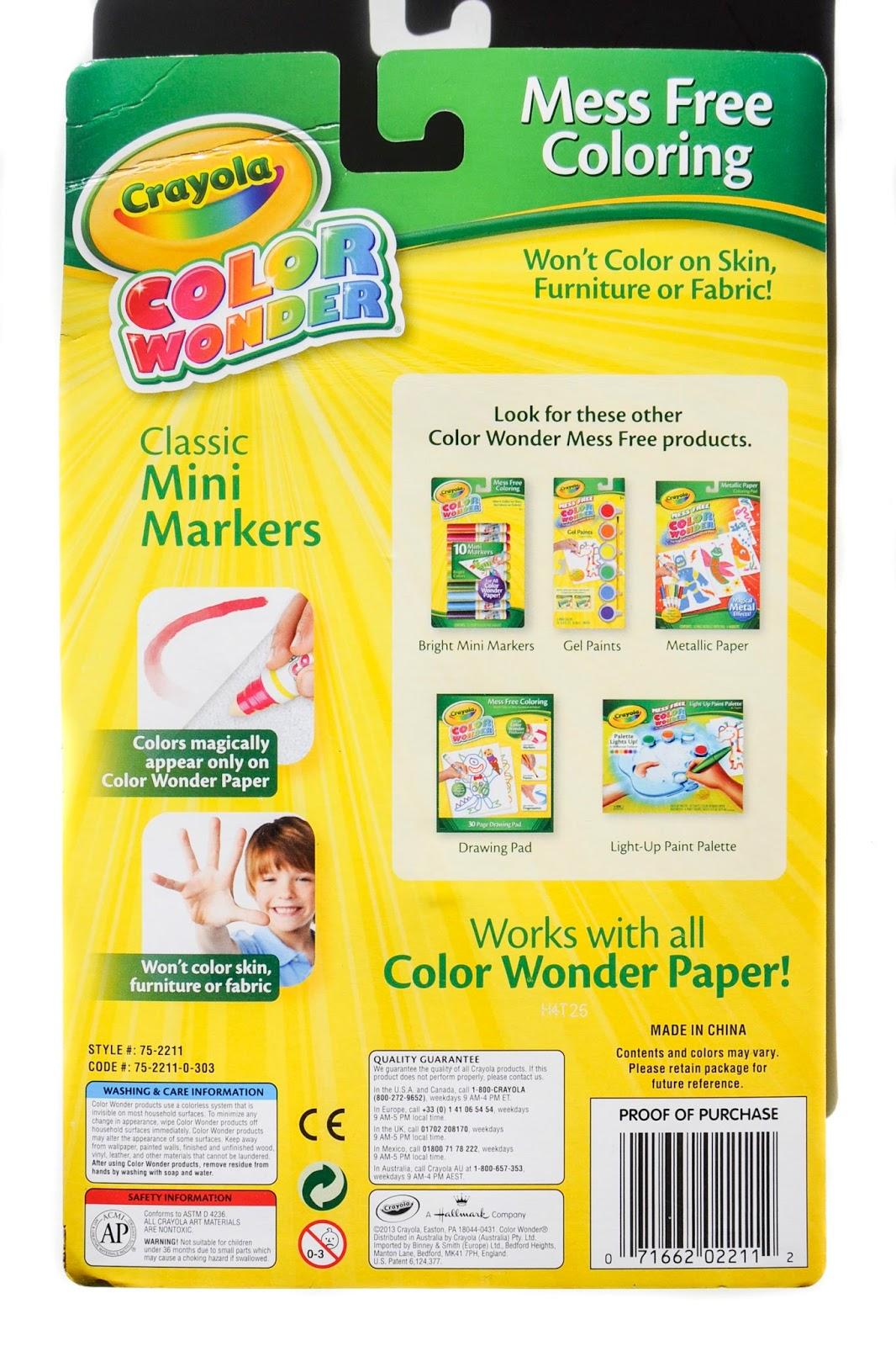crayola color wonder mini markers amazon # 27