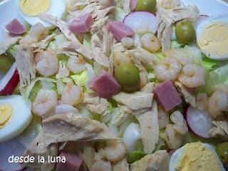 Ensalada De Bonito Y Gambas