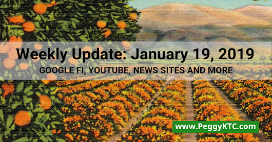 Weekly Update - January 19, 2019: Google Fi RCS, YouTube Policy, SItes for News Orgs