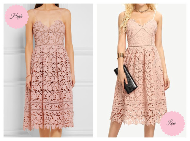 Self-Portrait Azaelea lace dress perfect dupe - High vs. Low