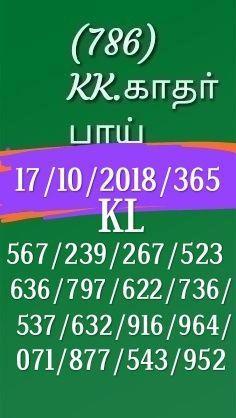 Kerala lottery abc guessing Akshaya AK-365 on 17.10.2018 by KK