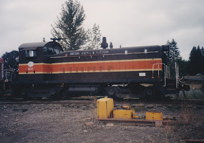 Oregon Pacific SW8 #602 in Liberal, Oregon, in September, 1998