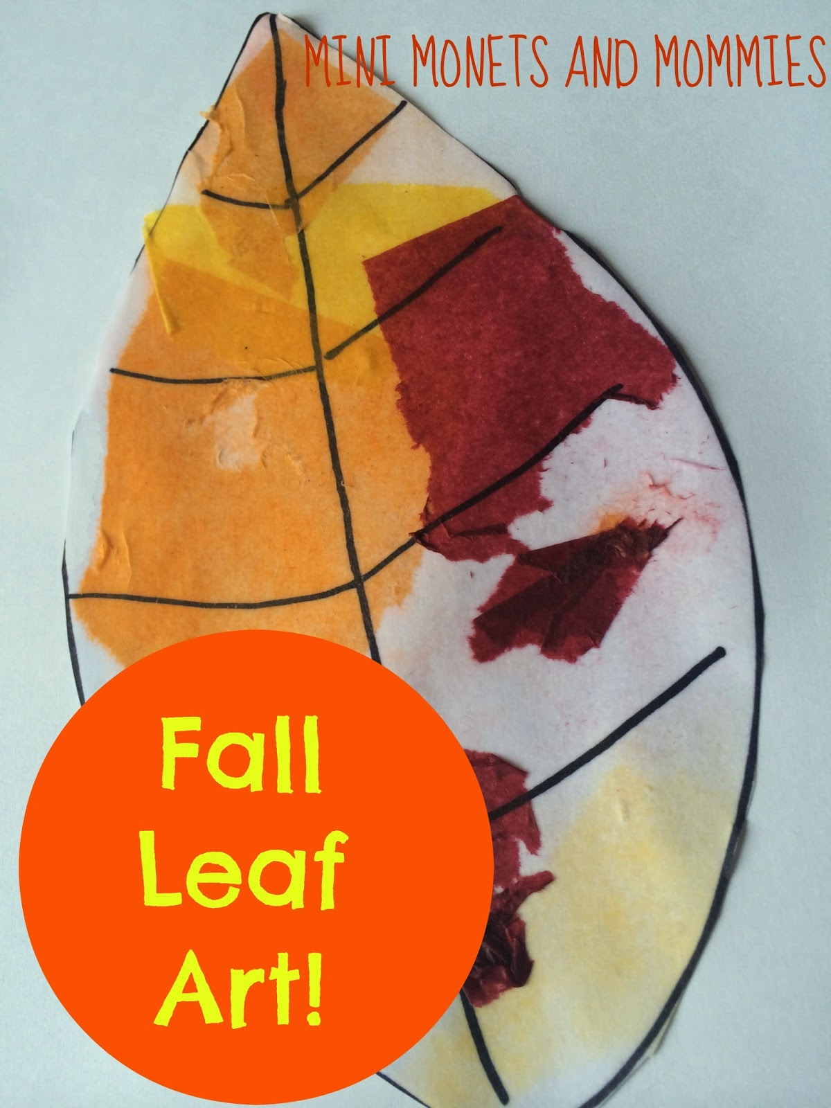Mini Monets and Mommies: Fall Leaf Tissue Paper Print Art