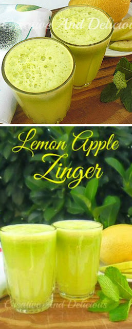 Try this Lemon Apple drink ! Best thirst quencher !