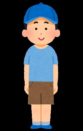 夏服を着た男性のイラスト