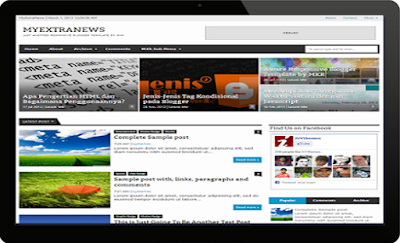 My Esxtra News Blogger Template