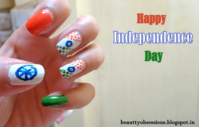 Nail Art Inspired By Independence Day....