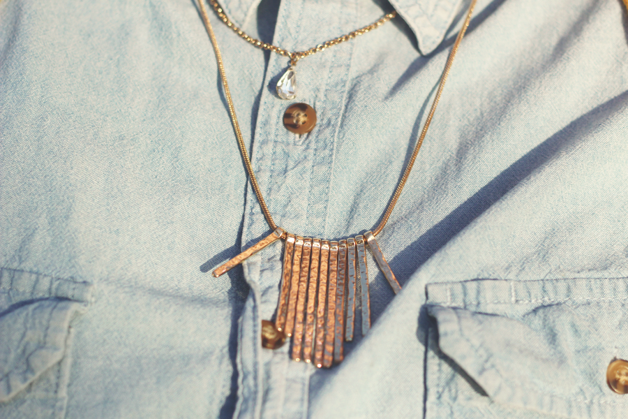 chambray, outfit, spring outfit