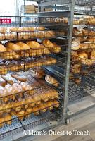 rolls at bakery