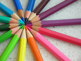 Wallpaper Colorful Crayons Pencil