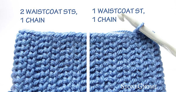 Crochet stitch patterns using waistcoat stitch