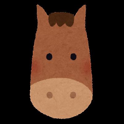 馬の顔のイラスト