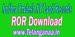 Andhra Pradesh AP Land Records ROR Download at meebhoomi.ap.gov.in