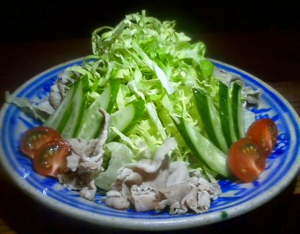 豚しゃぶと春キャベツのサラダ