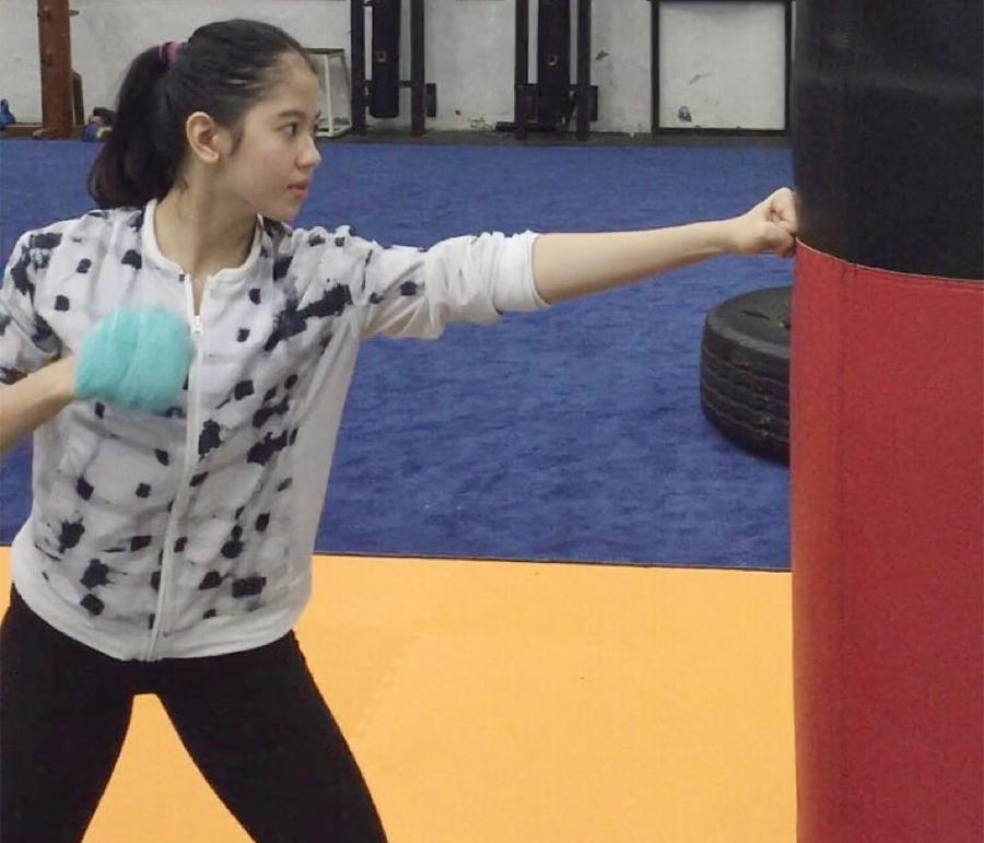 Sabina Katya Saat Latihan