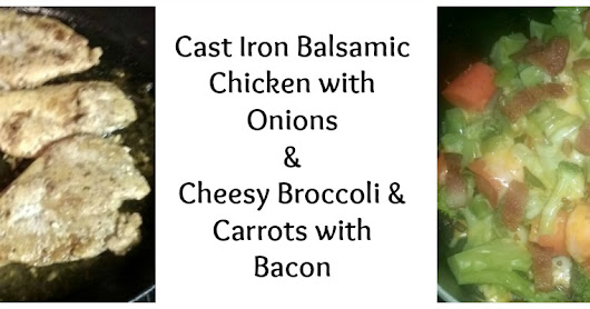 Cast-Iron Balsamic Chicken with Bacon & Onions
