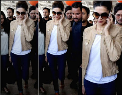 Best Jackets Donned By Deepika Padukone brown