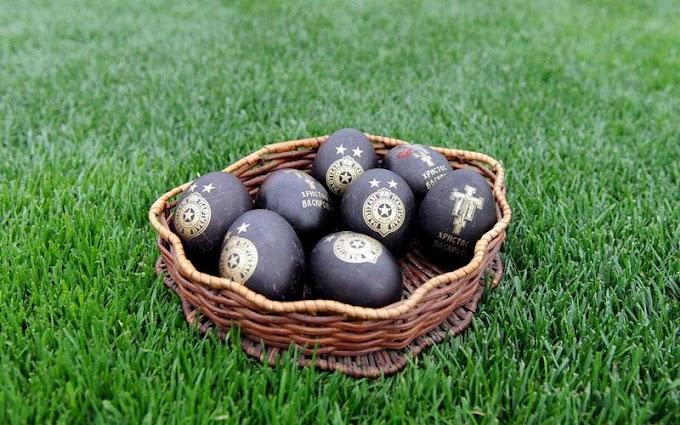Crno-beli poklanjaju uskršnja jaja sa grbom Partizana! (VIDEO)