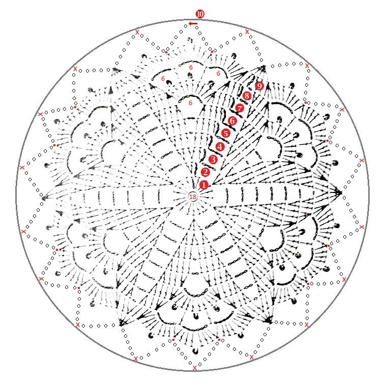 Firefly Crochet: doily dream catcher free pattern chart