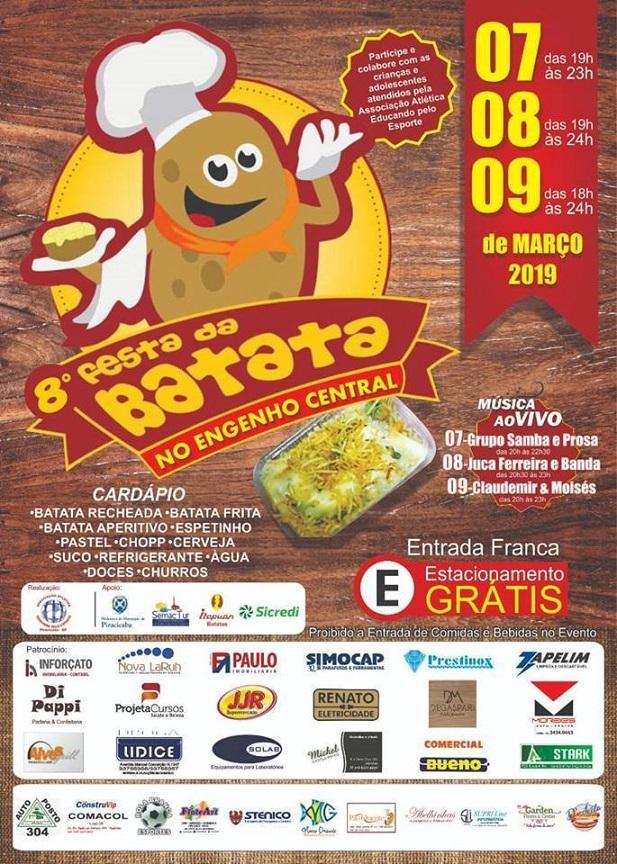 Panfleto da 8ª Festa da Batata em Piracicaba (Foto: Reprodução/JP)