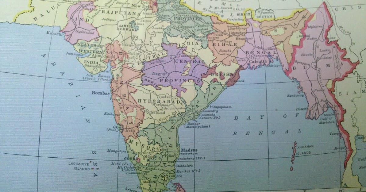 Mostly Random Photos Eh India And Burma Map Circa 1930s
