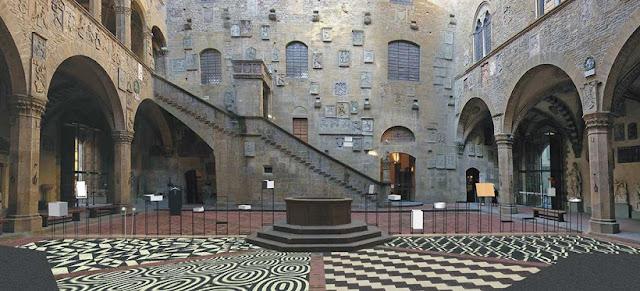 Museu Nacional do Bargello em Florença na Itália