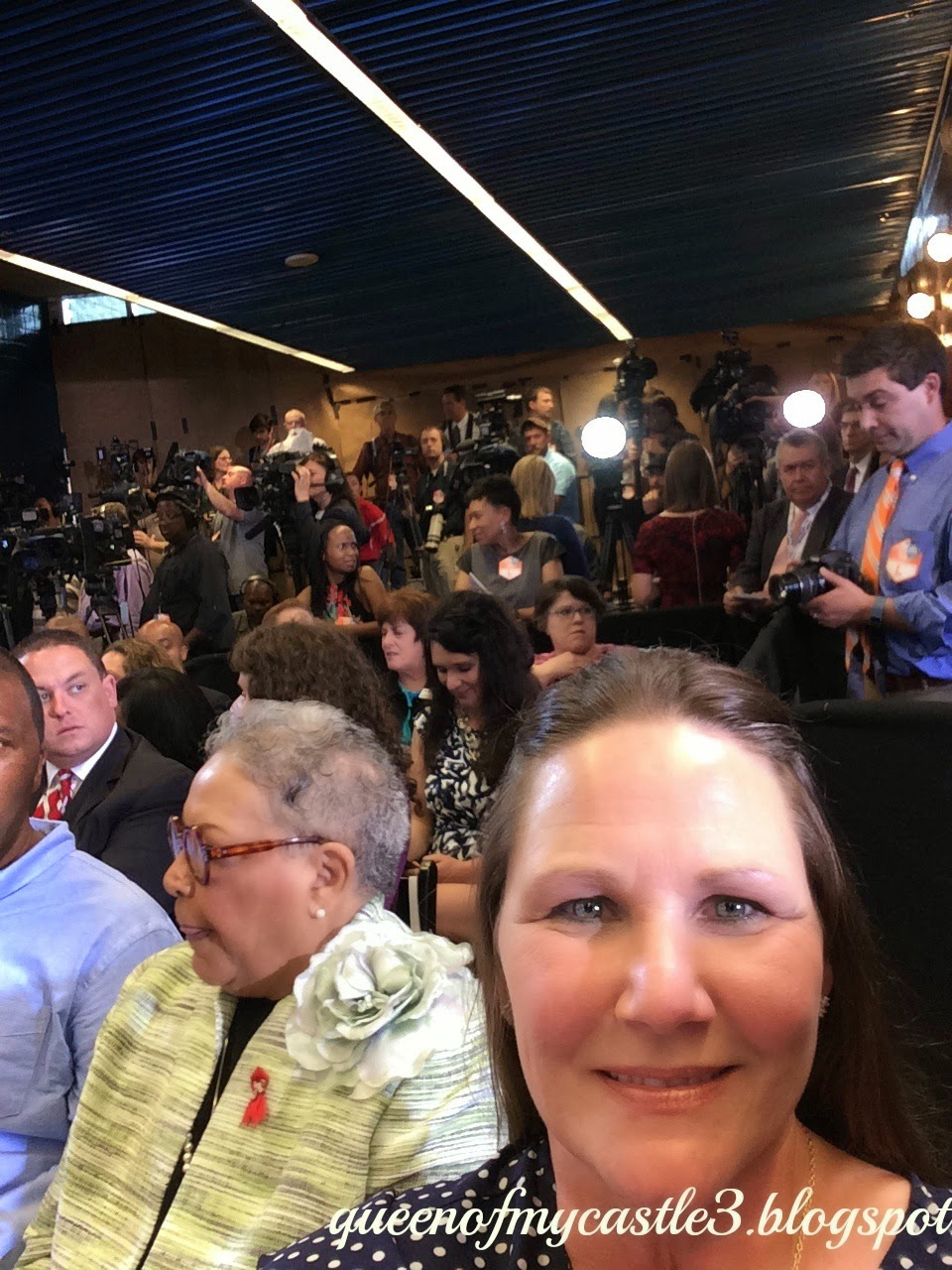 News Media waiting for Presidents arrival