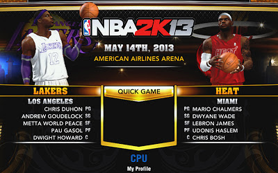 NBA 2K13 Heat and Lakers Accessories Fix
