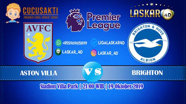 Prediksi Pertandingan Bola Aston Villa vs Brighton Sabtu 19 Oktober 2019