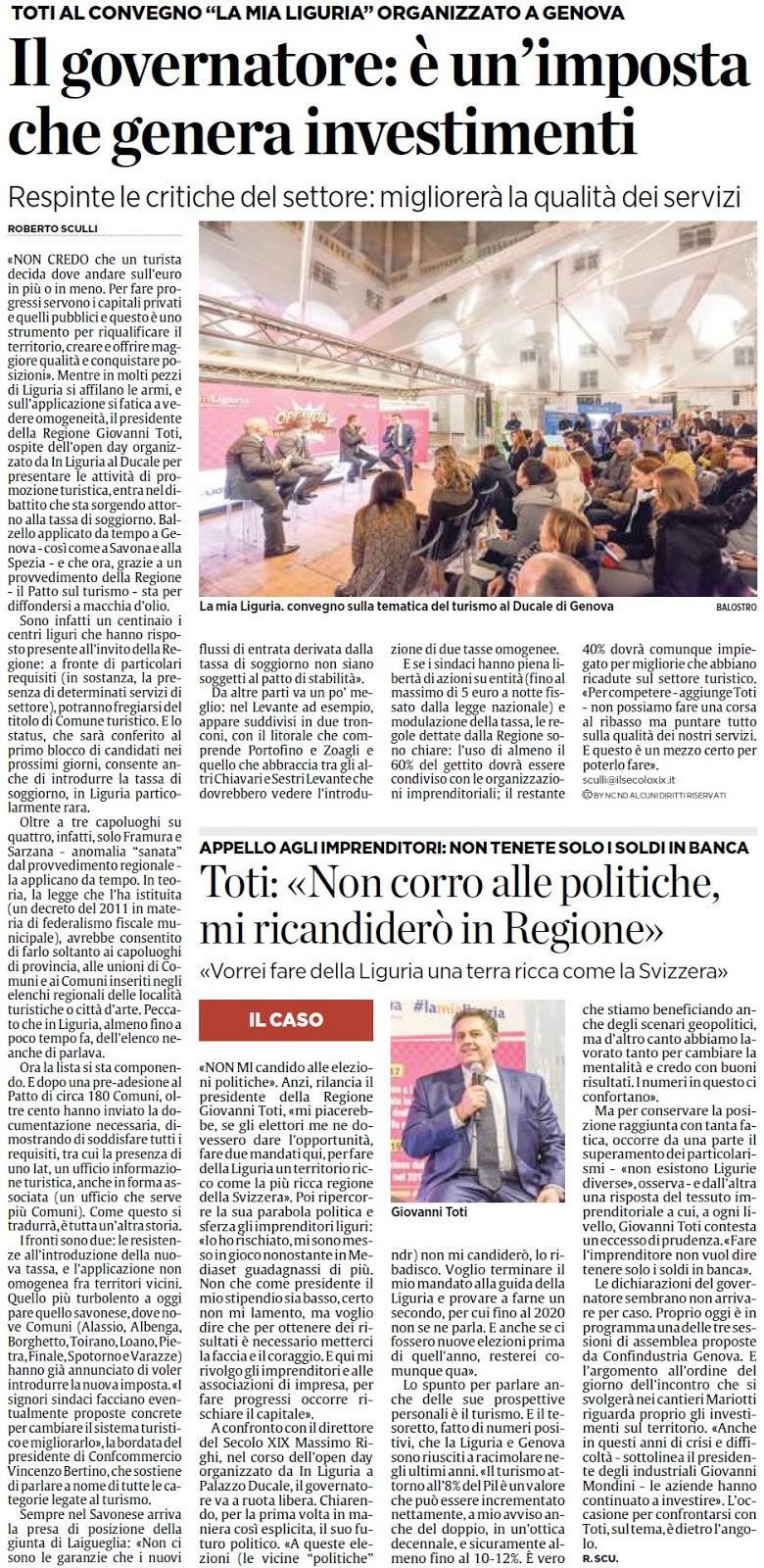 ALASSIOFUTURA: Genova - Il governatore Giovanni Toti al convegno ...