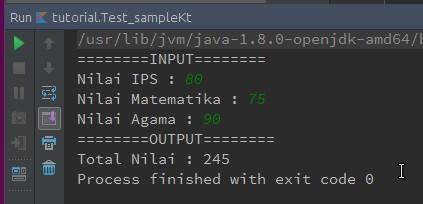 Output program menggunakan readLine()-Numerik