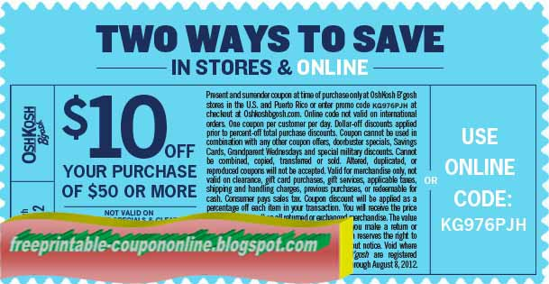 oshkosh in store coupon