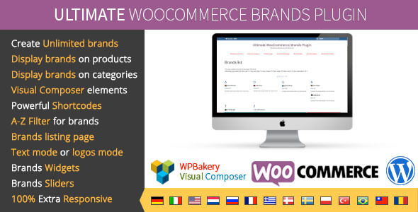 Free Download Ultimate WooCommerce V1.5 Brands Wordpress Plugin