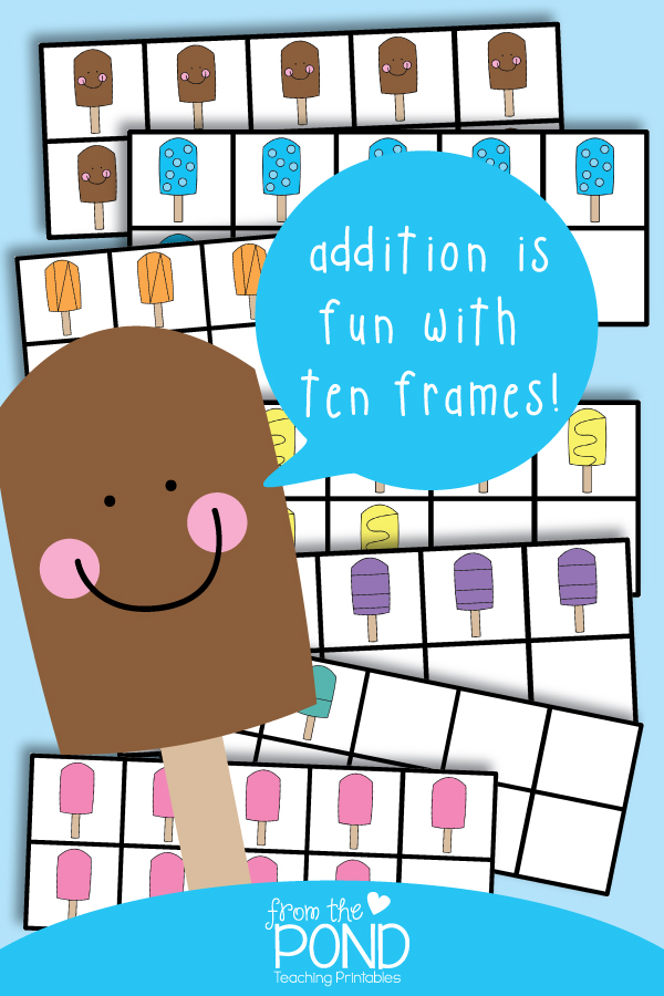 Free Ten Frame Addition Game | From the Pond