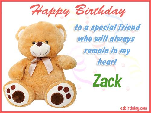 Zack Happy birthday friend