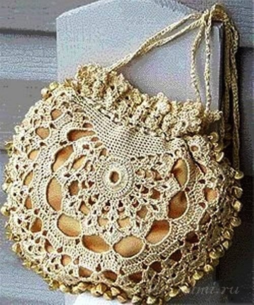 crochet purse shaped topaz