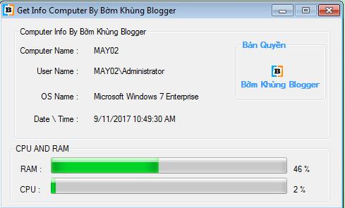 [VB.NET] My Computer Info (Thông tin máy tính)