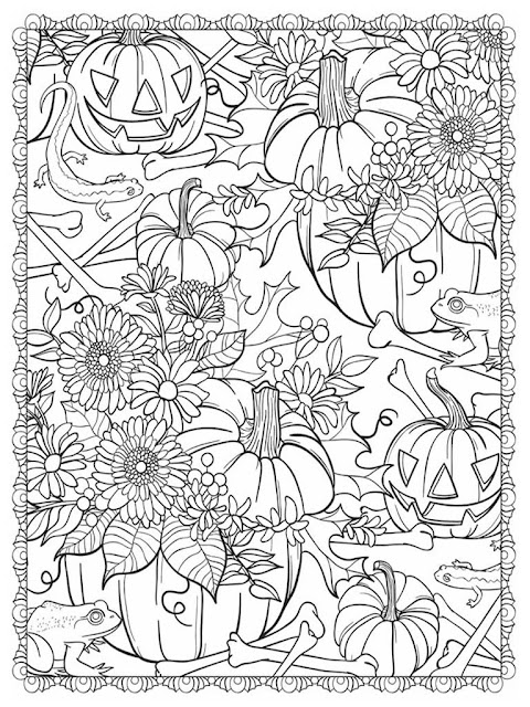 Halloween scapes coloring pages for adult free sample 4