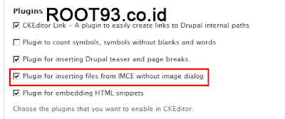 Konfiguras Plugins IMCE