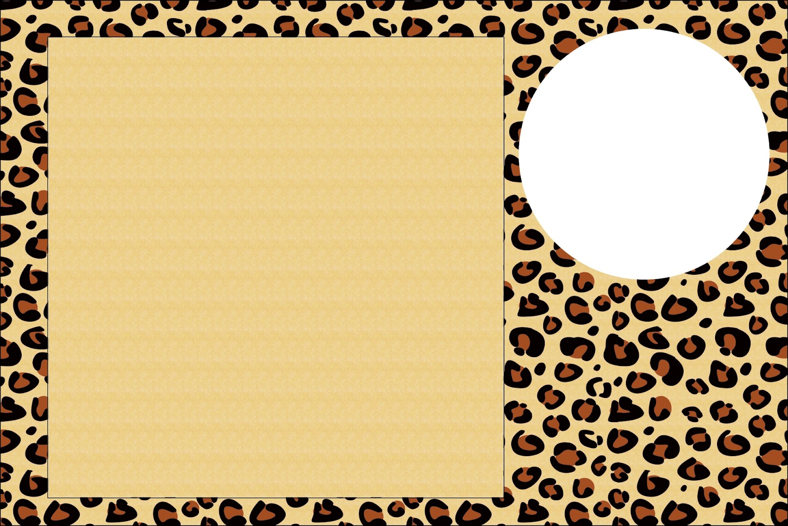 Leopard prints free printable invitations oh my fiesta for ladies leopard prints free printable invitation frame or cards maxwellsz
