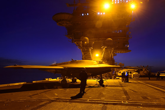 Naval Open Source INTe...X 47b At Night